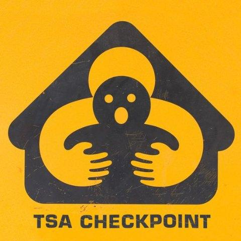 New TSA Checkpoint Sign