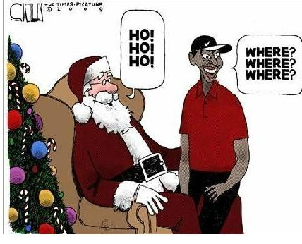 tiger woods and santa clause